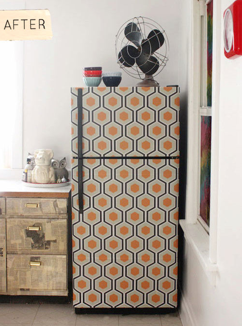 Decooupage Fridge