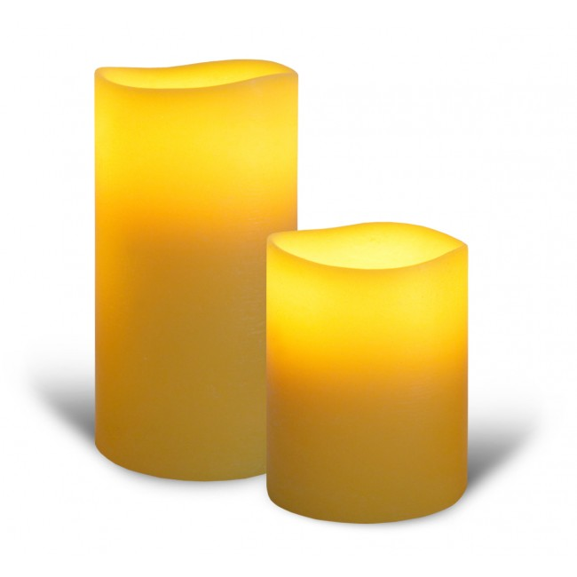 Saffron Yellow Flameless Candles