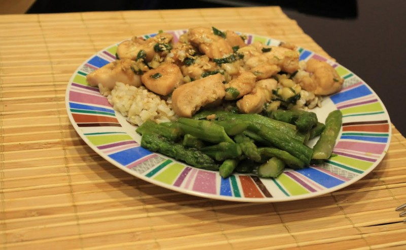 Sesame Chicken With Asparagus Recipe