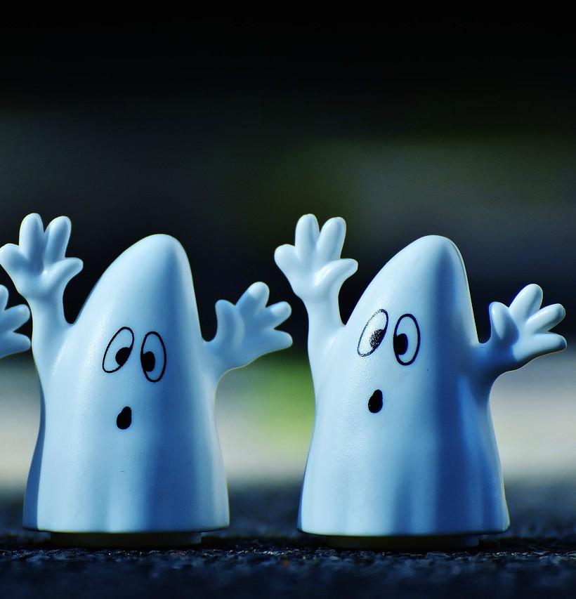 Handmade Halloween ghosts